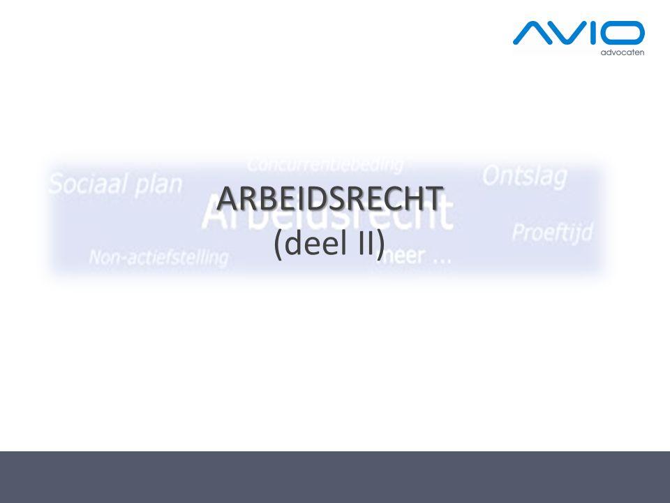 ARBEIDSRECHT (deel II)