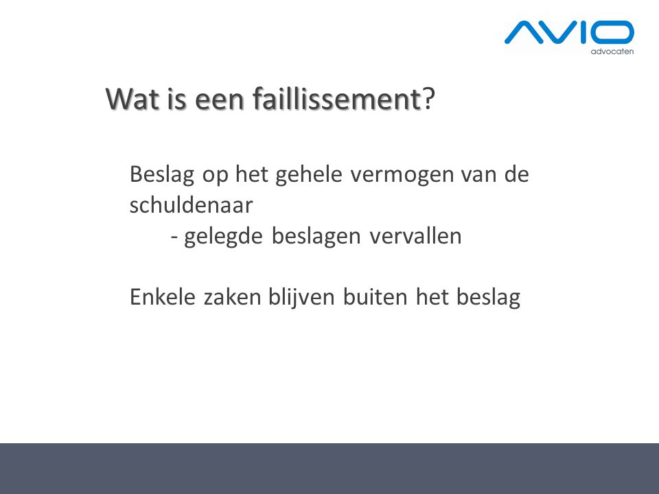 Wat is een faillissement
