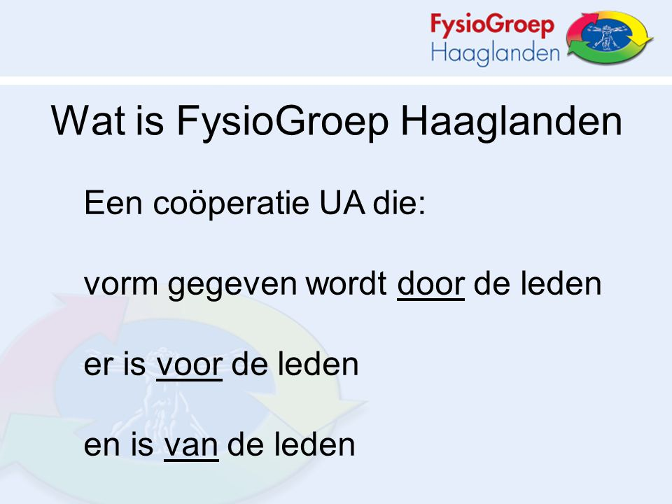 Wat is FysioGroep Haaglanden