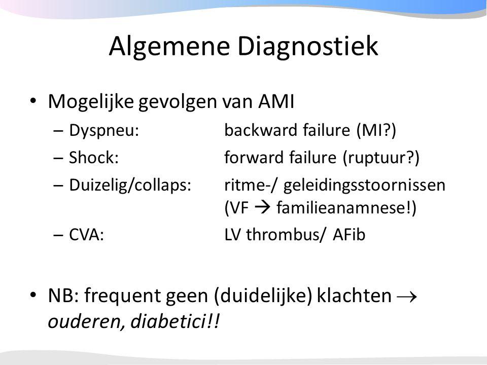 Algemene Diagnostiek Mogelijke gevolgen van AMI