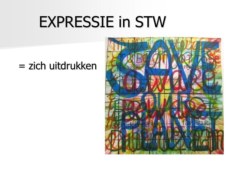 EXPRESSIE in STW = zich uitdrukken