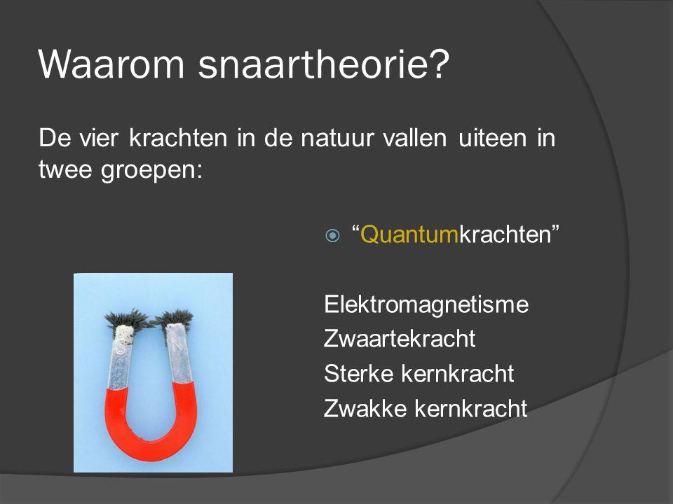 Waarom snaartheorie De vier krachten in de natuur vallen uiteen in twee groepen: Quantumkrachten