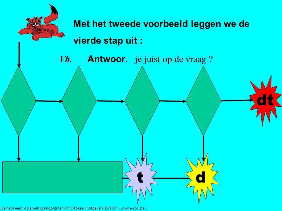 dt t d Met het tweede voorbeeld leggen we de vierde stap uit :