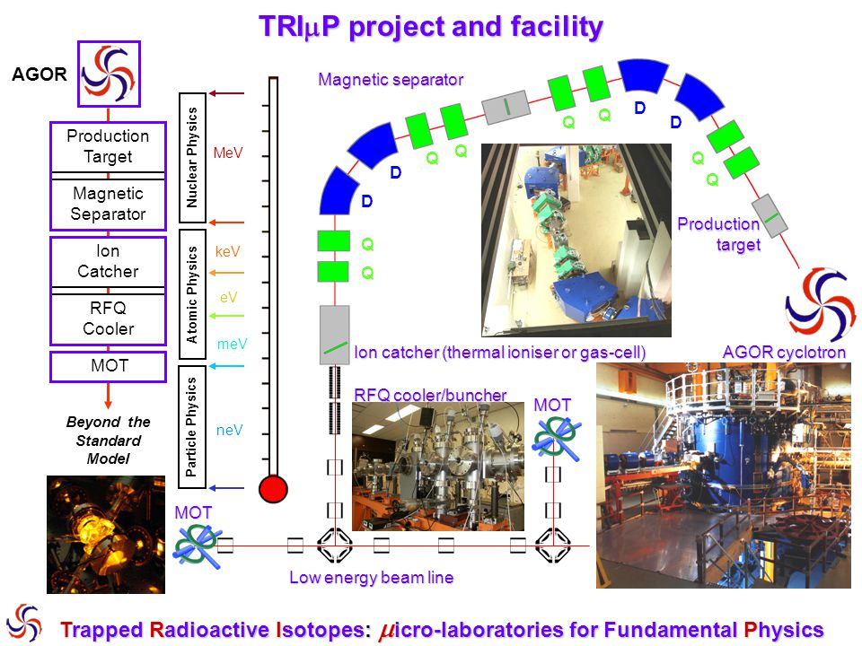 TRIP project and facility Beyond the Standard Model