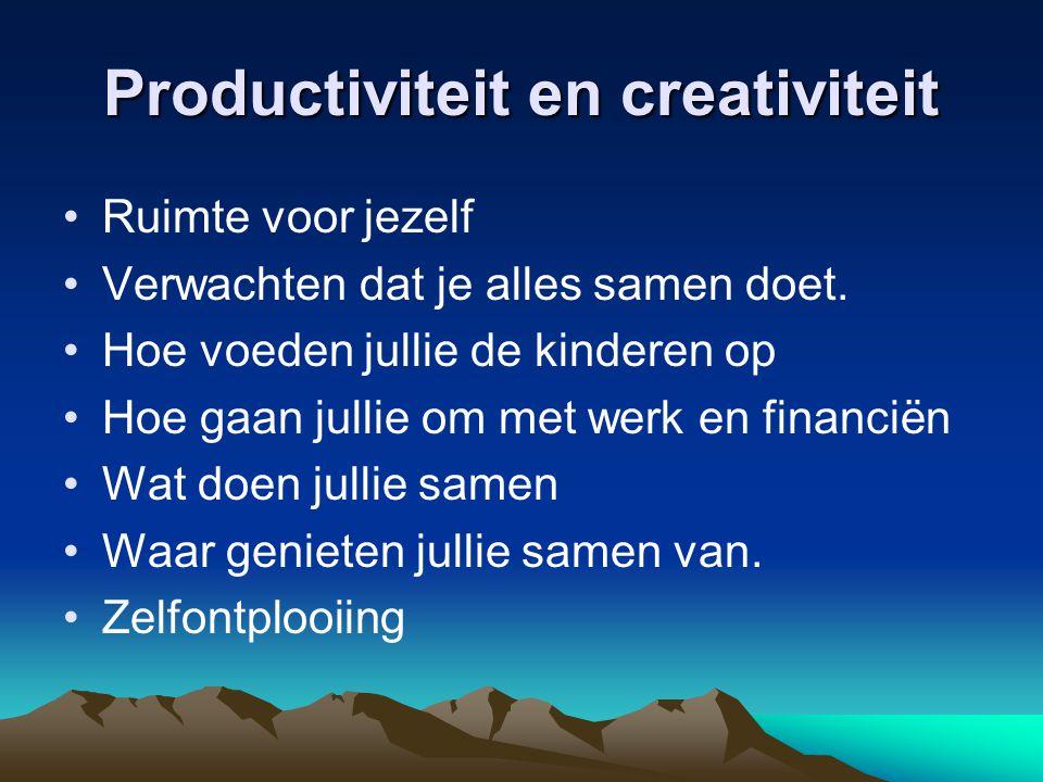 Productiviteit en creativiteit