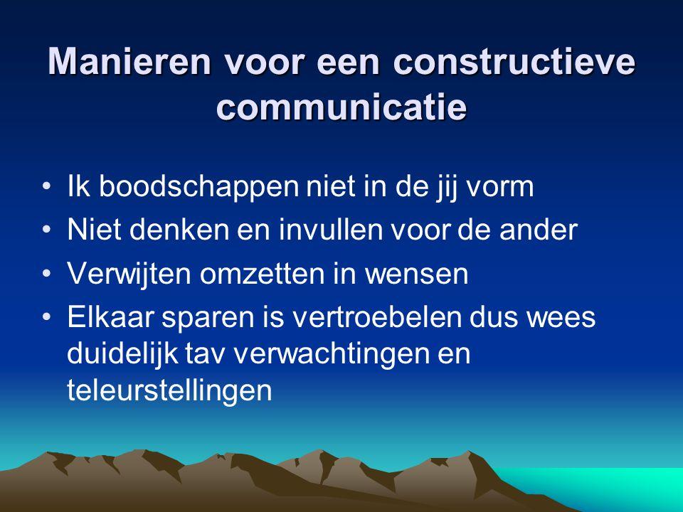 Manieren voor een constructieve communicatie
