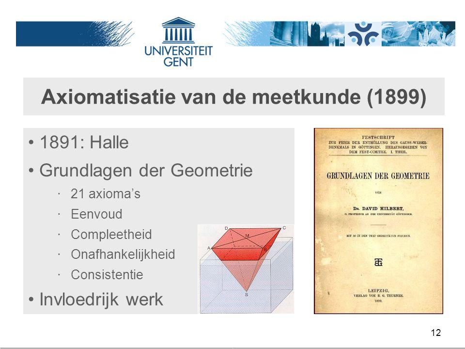 Axiomatisatie van de meetkunde (1899)