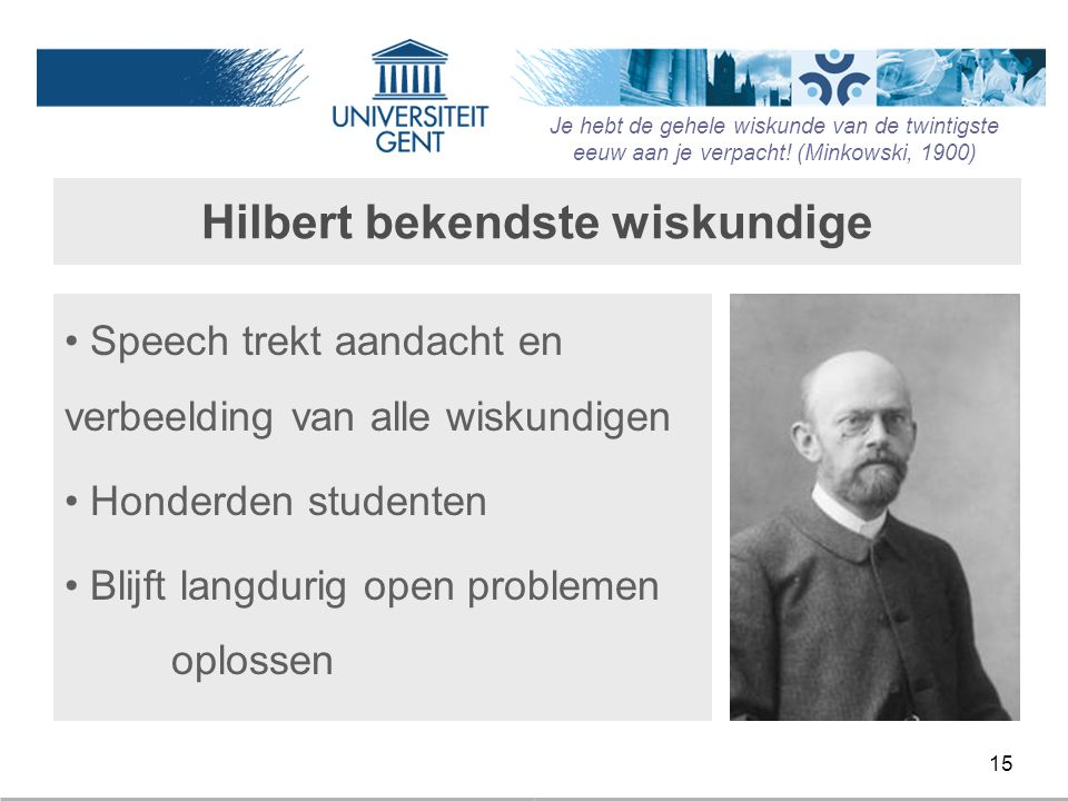 Hilbert bekendste wiskundige