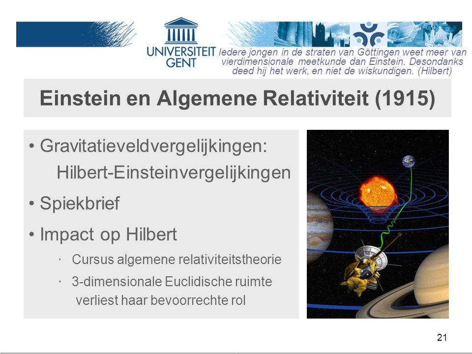 Einstein en Algemene Relativiteit (1915)