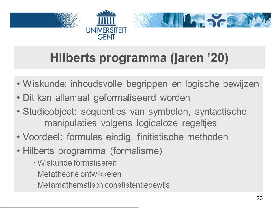 Hilberts programma (jaren '20)