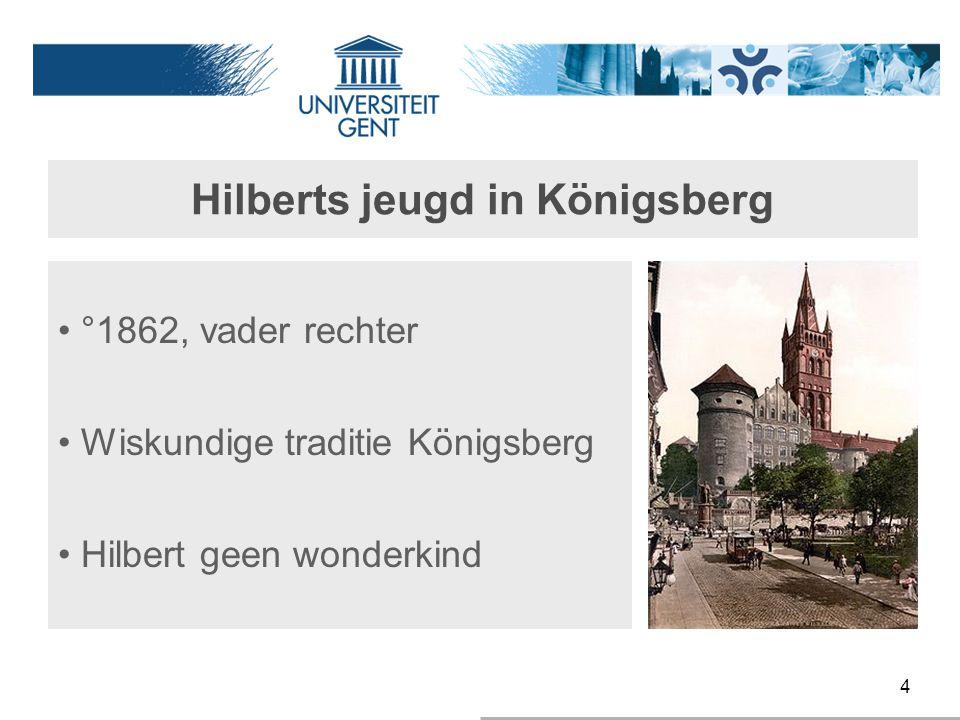 Hilberts jeugd in Königsberg