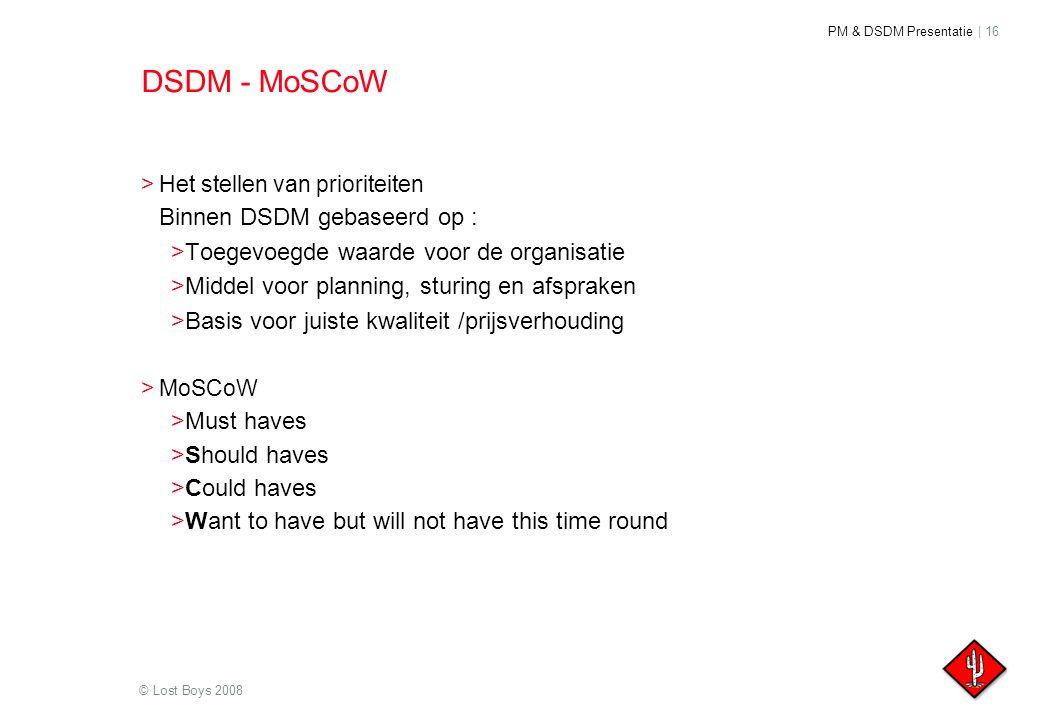 DSDM - MoSCoW Toegevoegde waarde voor de organisatie
