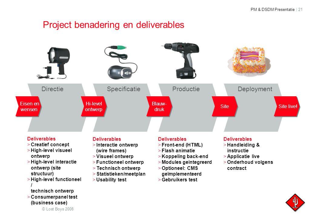 Project benadering en deliverables