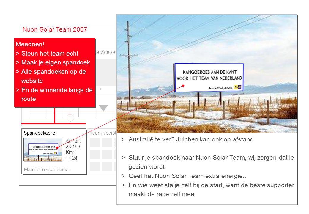 Site #4 Google maps Nuon Solar Team 2007 Meedoen! Steun het team echt