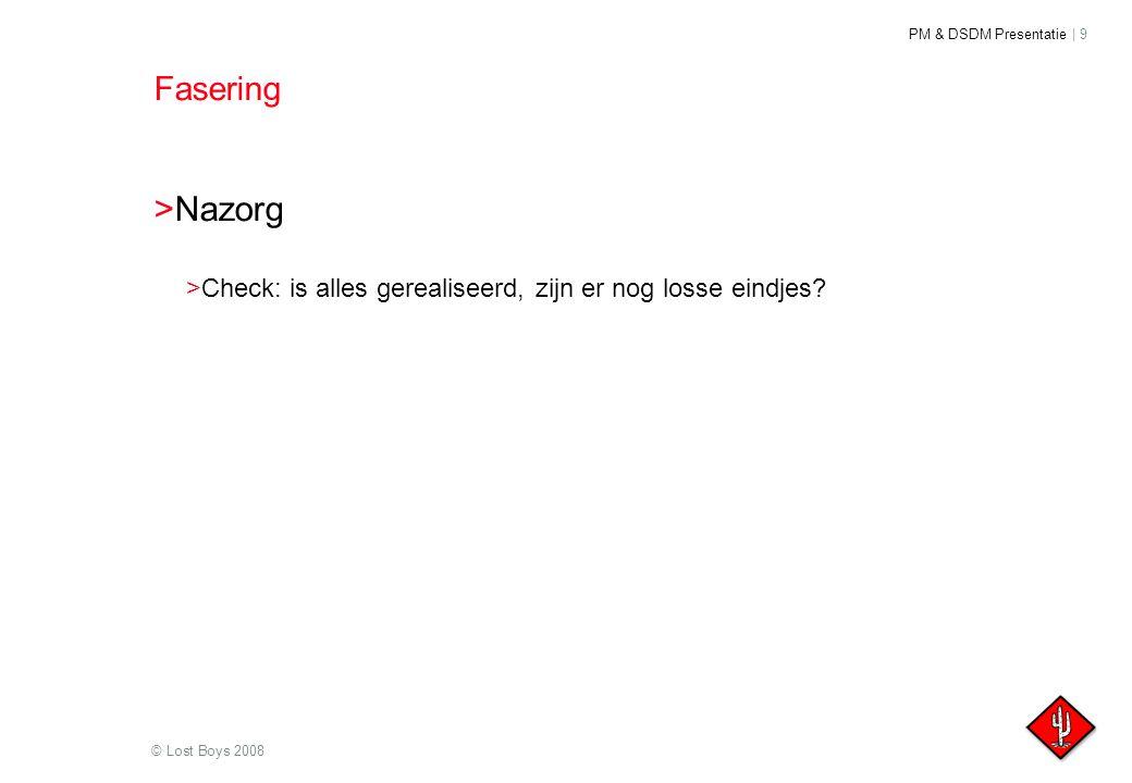 Fasering Nazorg Check: is alles gerealiseerd, zijn er nog losse eindjes