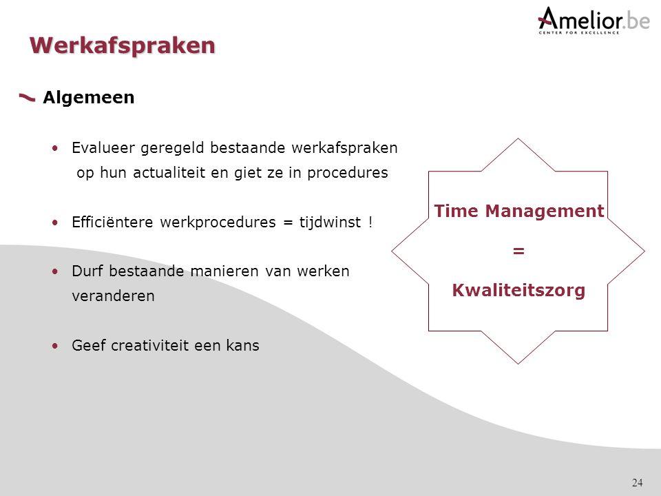 Werkafspraken Algemeen Time Management = Kwaliteitszorg