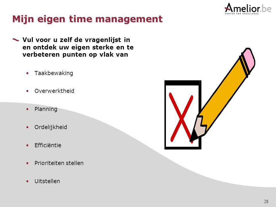 Mijn eigen time management