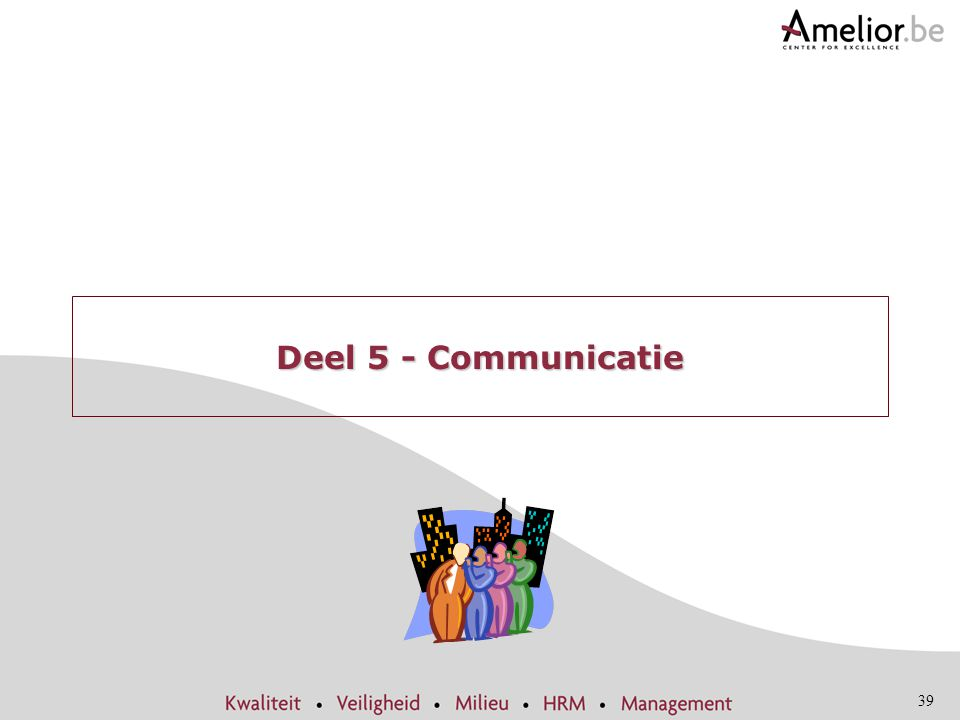 Deel 5 - Communicatie