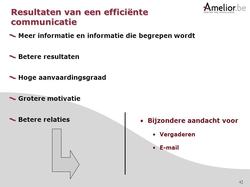 Resultaten van een efficiënte communicatie