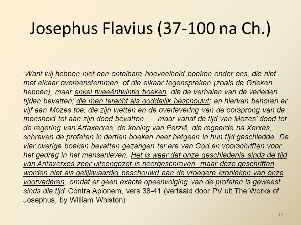 Josephus Flavius (37-100 na Ch.)