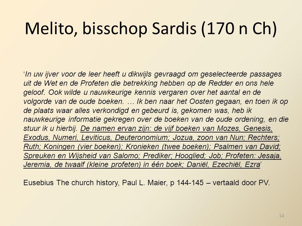Melito, bisschop Sardis (170 n Ch)