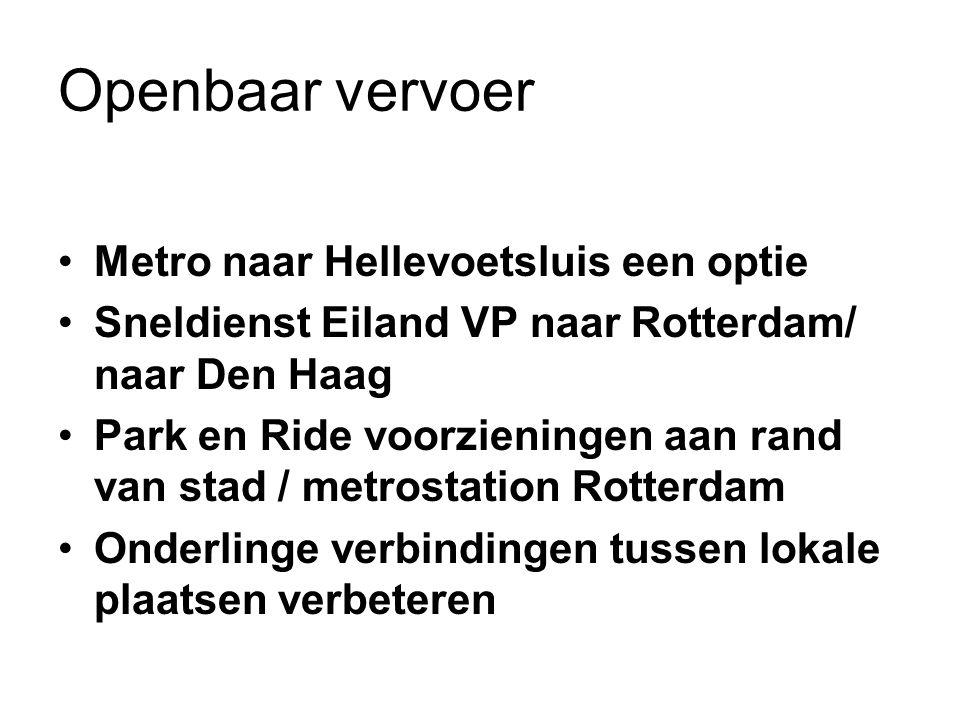 Openbaar vervoer Metro naar Hellevoetsluis een optie