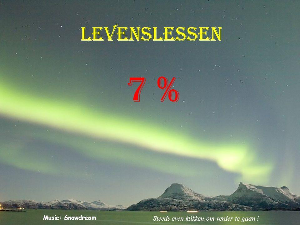 levenslessen 7 % Steeds even klikken om verder te gaan !