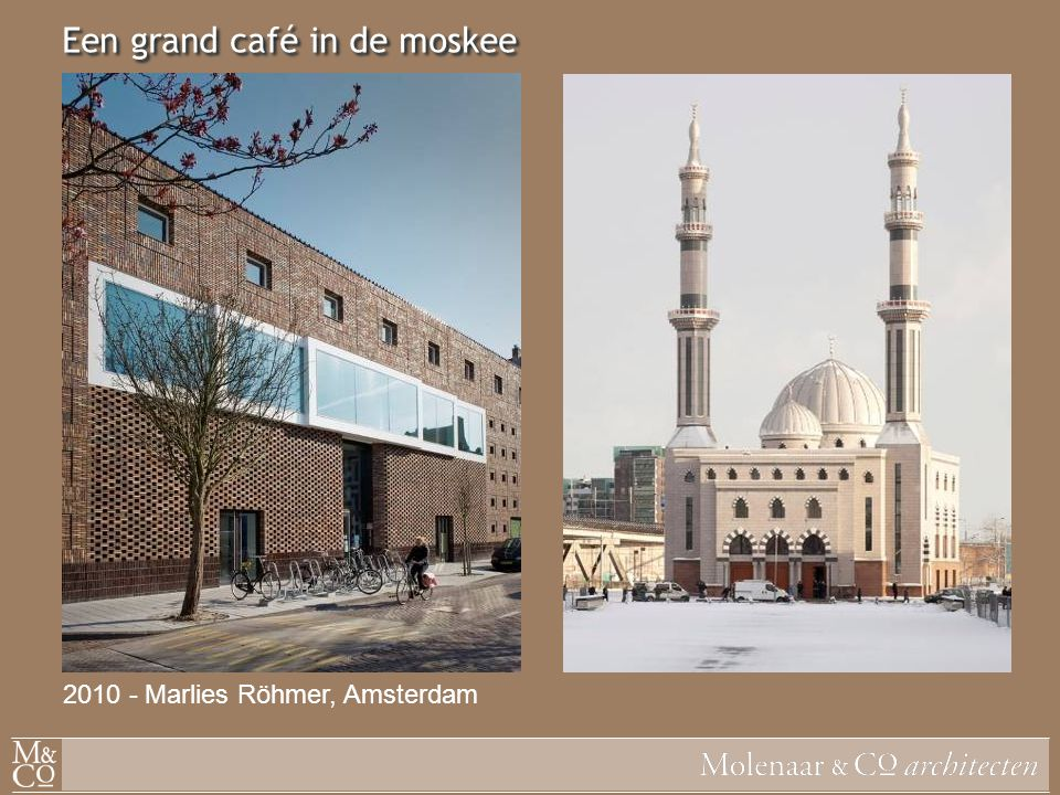 Een grand café in de moskee