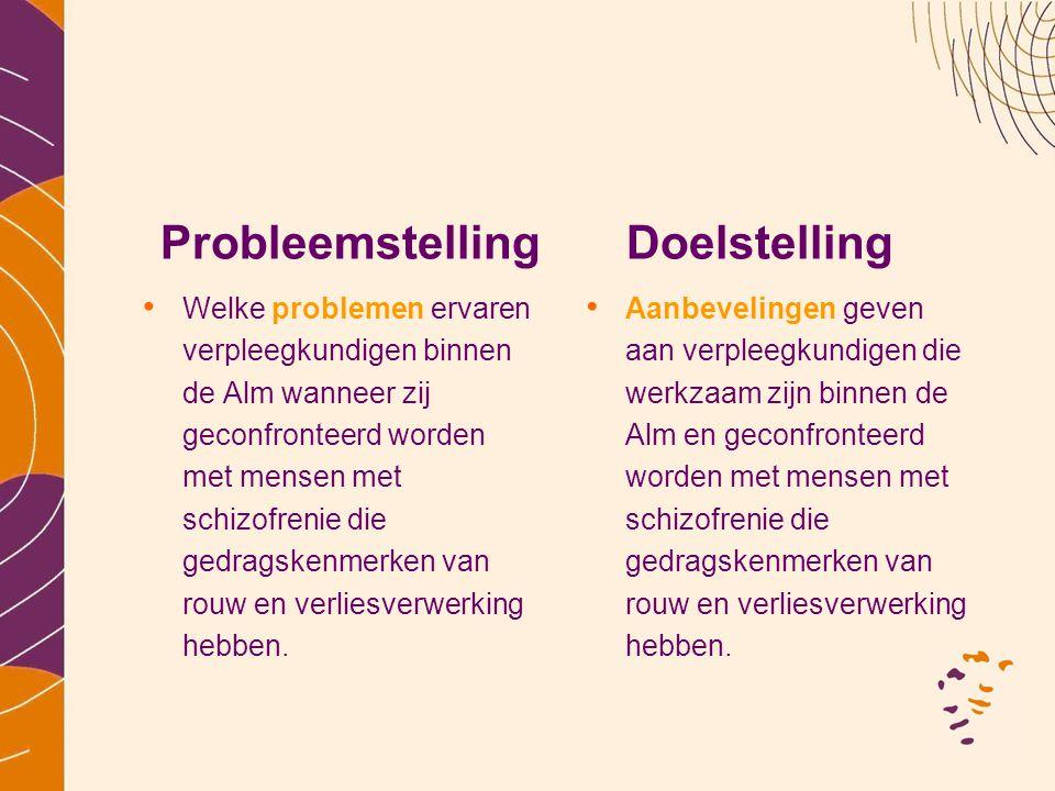 Probleemstelling Doelstelling