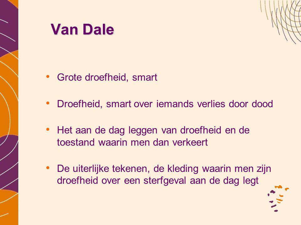 Van Dale Grote droefheid, smart