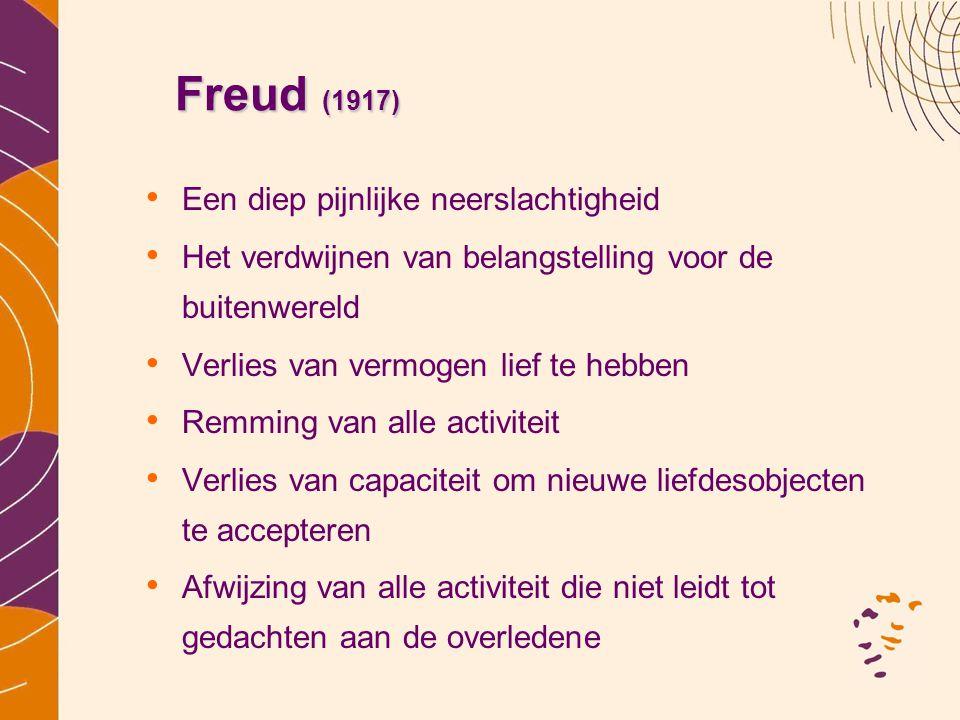 Freud (1917) Een diep pijnlijke neerslachtigheid