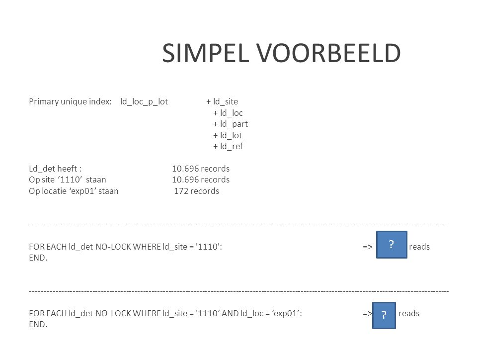 SIMPEL VOORBEELD