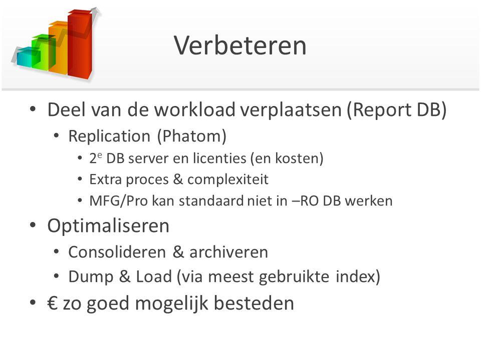 Verbeteren Deel van de workload verplaatsen (Report DB) Optimaliseren