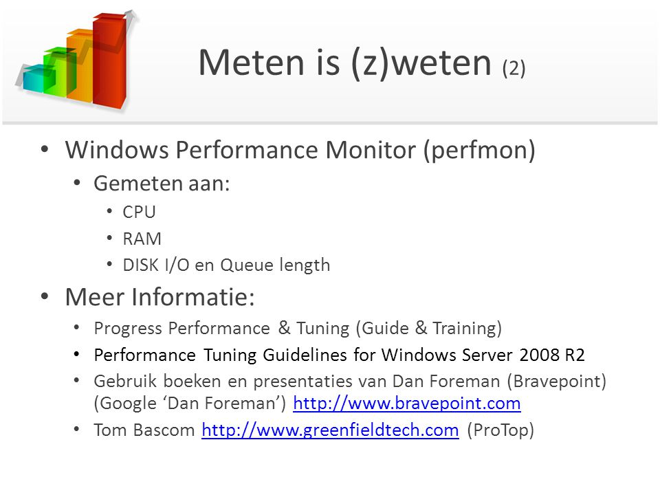 Meten is (z)weten (2) Windows Performance Monitor (perfmon)