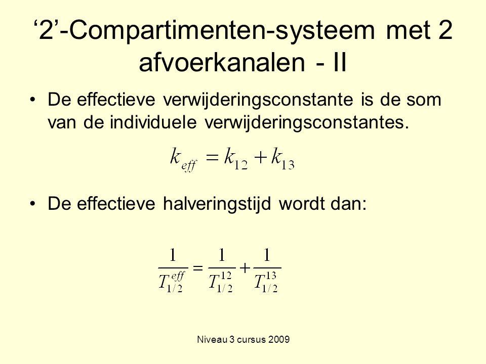'2'-Compartimenten-systeem met 2 afvoerkanalen - II