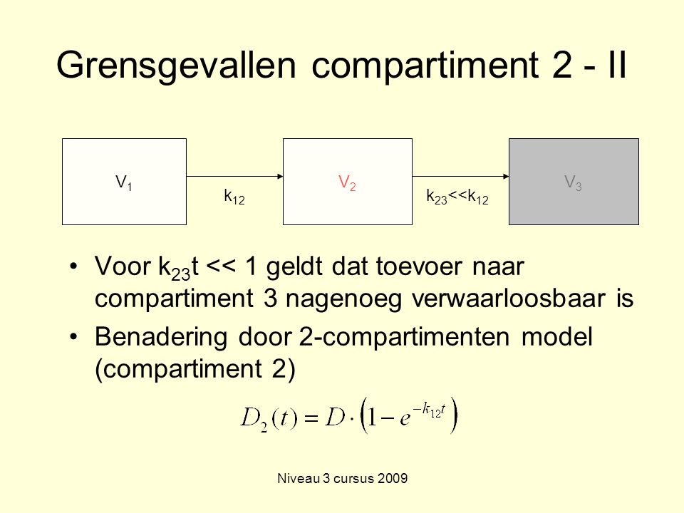Grensgevallen compartiment 2 - II