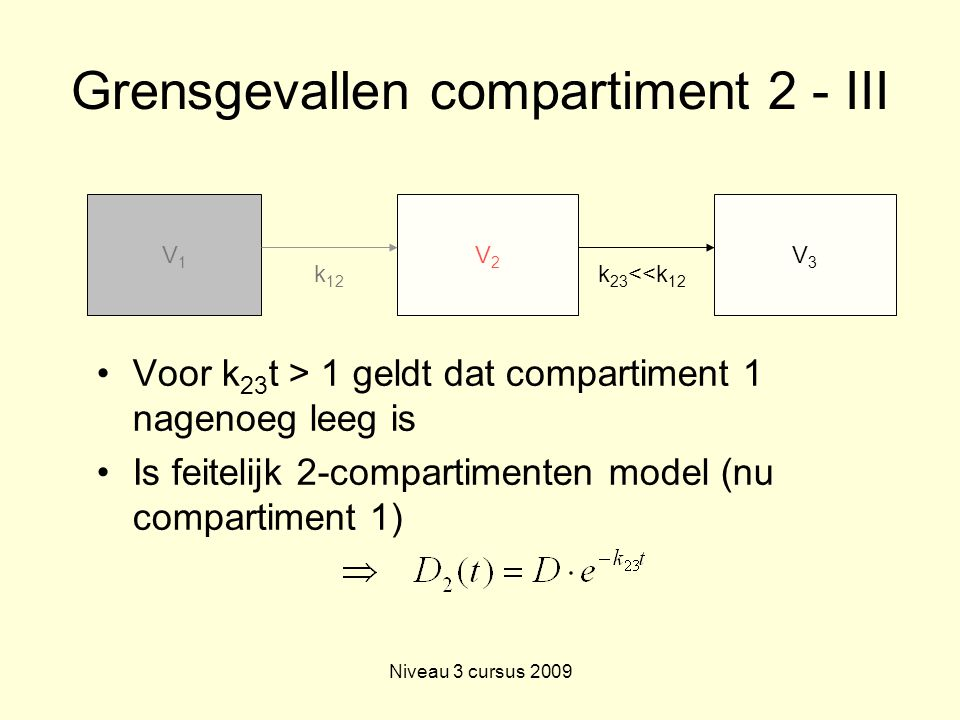 Grensgevallen compartiment 2 - III