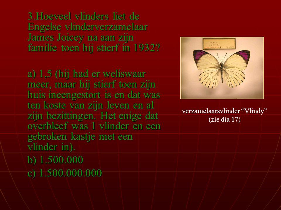 verzamelaarsvlinder Vlindy (zie dia 17)