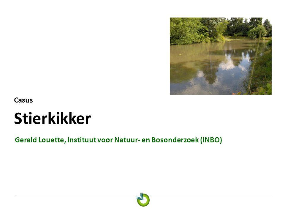 Stierkikker Casus Gerald Louette, Instituut voor Natuur- en Bosonderzoek (INBO)