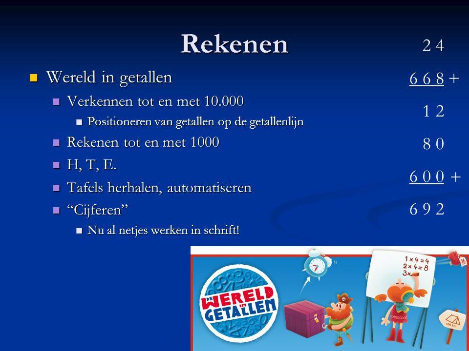 Rekenen 2 4 6 6 8 1 2 Wereld in getallen + 8 0 6 0 0 6 9 2 +