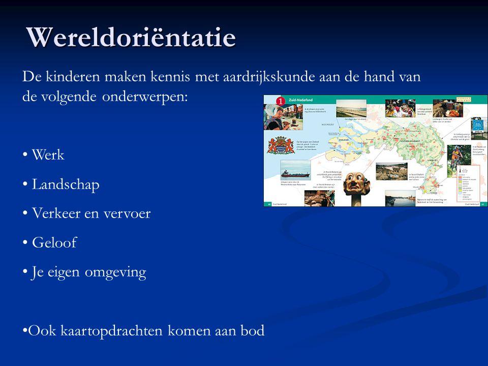 Wereldoriëntatie De kinderen maken kennis met aardrijkskunde aan de hand van de volgende onderwerpen: