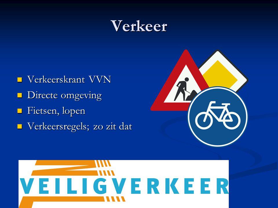 Verkeer Verkeerskrant VVN Directe omgeving Fietsen, lopen