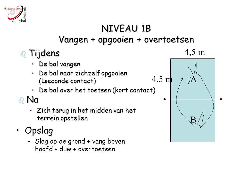 NIVEAU 1B Vangen + opgooien + overtoetsen