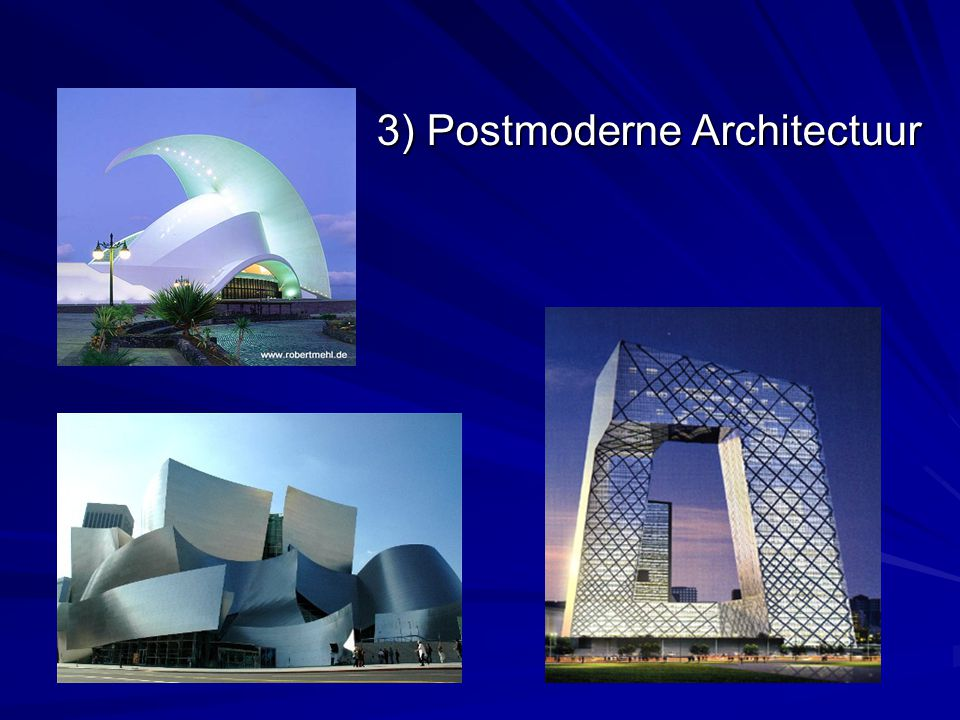 3) Postmoderne Architectuur