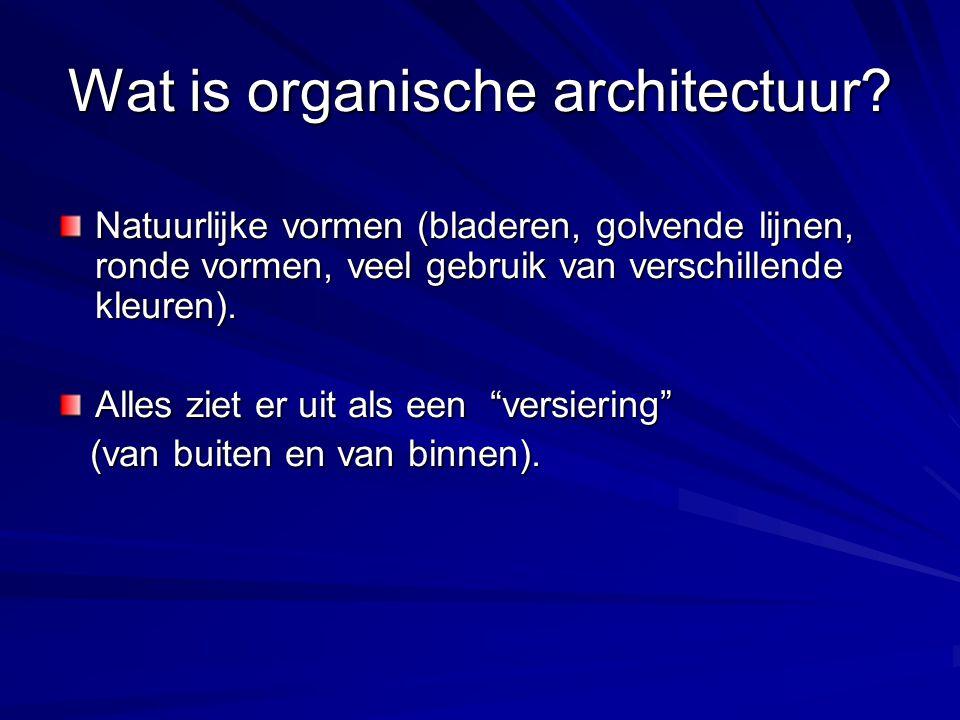 Wat is organische architectuur