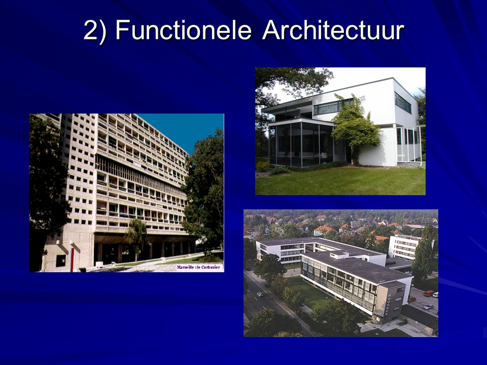 2) Functionele Architectuur