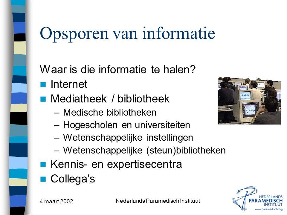 Opsporen van informatie