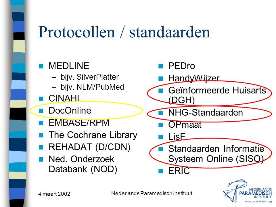 Protocollen / standaarden