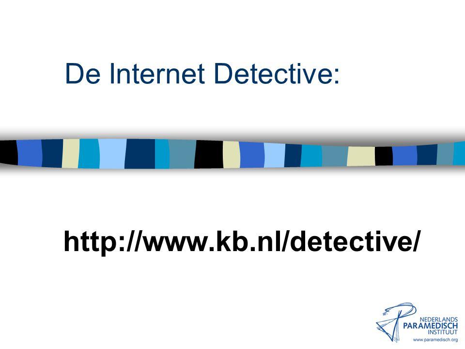 De Internet Detective: