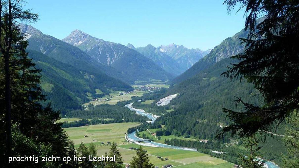prachtig zicht op het Lechtal